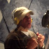 "Mel Carter giving his all for ""The Other Standards"" at Theta Sound Studio"