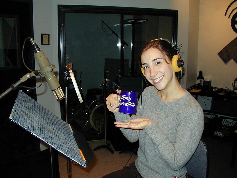 Amy joins the Mug Club at Theta Sound Studio