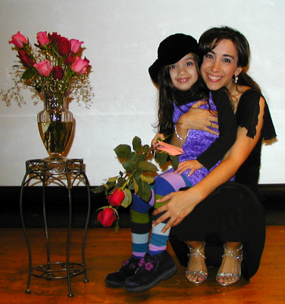 Amy and a new fan after a special performance