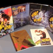 "The ""King Kong"" Special Collector's Edition DVD set with recreations of the original movie poster artwork and the original Grauman's Chinese Theater movie program."