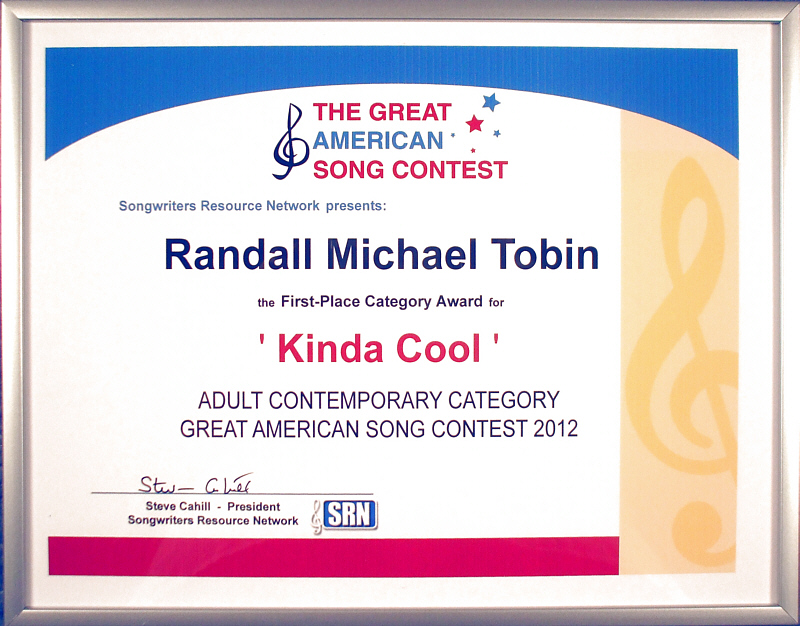 """Kinda Cool,"" written by Randall Michael Tobin and sung by Amy on her debut album ""Vocalessence,"" took top honors in the 14th Annual Great American Song Contest, Adult Contemporary category, announced March, 2013. You can listen to ""Kinda Cool"" and other songs from the album at <a href=""http://VocalessenceByAmy.com"" target=""_blank"">VocalessenceByAmy.com</a> (it's the 12th tile on the page, but you should really start at the beginning [""press to play""] for the whole story)."