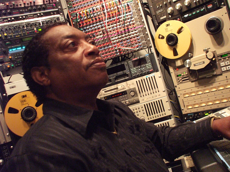 Albert Johnson of A1 4Way Entertainment checks out the mix of one his R&B originals, produced by Randall Michael Tobin at Theta Sound Studio