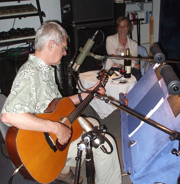 Indie singer/songwriter and folk icon Art Podell lays down some tracks for his next release while his wife Judy adds her magic touch to the session