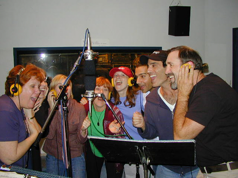 """""""BARK!"""" pawed its way into our hearts at Theta Sound Studio with the original cast recording sessions produced by the show's composer, David Troy Francis. BARK! opened in Los Angeles at The Coast Playhouse in 2004 to rave reviews including Critic's Choice from the Los Angeles Times. The show went on to play for two years becoming the 3rd longest running show in Los Angeles history.  The memorable songs and dances of BARK! resulted in nominations for Best Musical Score & Best Choreography from the prestigious LA Critics' Drama Circle Awards."""