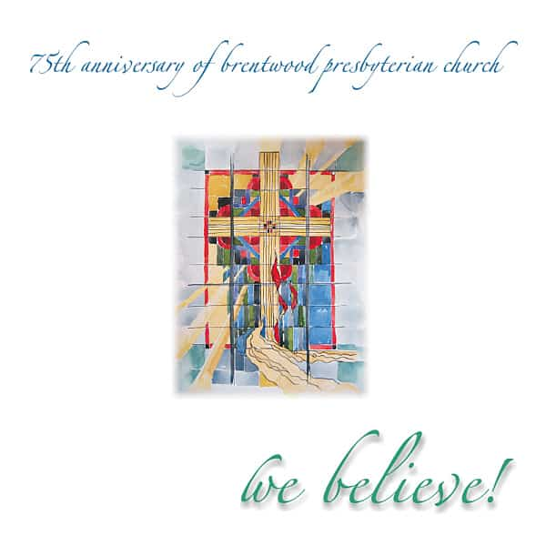 """BPC 75th Anniversary"" (Brentwood Presbyterian Church) music anthology compilation two-CD set contains archival material plus new songs recorded just for the album at Theta Sound Studio. We also designed the package around the artwork of Becky Smith and Rhonda Sells, and produced the finished CDs."