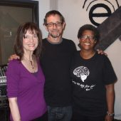 HARRIET, MARTY, ANDREA IN THE STUDIO AFTER THE LIVE SESSION (photo by Randy Tobin)