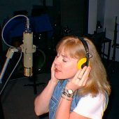 "Lisa Bell, an amazing pianist and singer/songwriter, laying down vocals for her ""Facets"" CD"