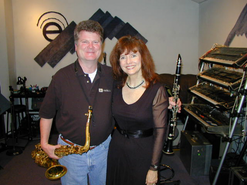"Harriet Schock wrote the main title song for Henry Jaglom's romantic comedy ""Going Shopping"" while Randy Tobin recommended reed man Mike Benedict to play the key clarinet and sax parts for the track. The song sounded really nice as we watched the film at the Laemmle Theater in Hollywood!"