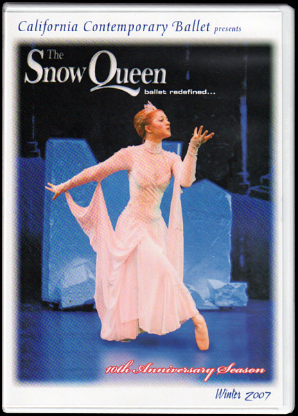 """The Snow Queen Ballet 10th Anniversary Season DVD, recorded at Glendale College Performing Arts Auditorium. DVD produced, directed and edited by Snow Queen Ballet composer Randall Michael Tobin. <a href="""" http://calballet.com/upcoming-performances/snow-queen/"""" target=""""_blank"""">Snow Queen Web Site</a>"""