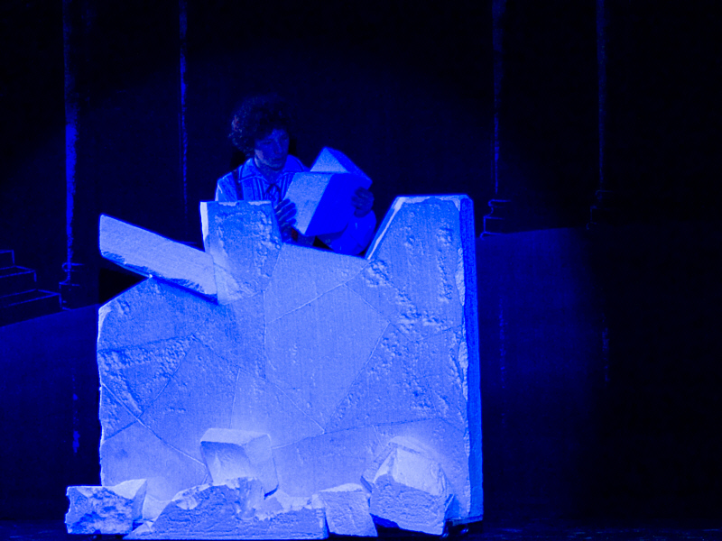 """Kai attempting to solve the ice puzzle from Act Two of The Snow Queen Ballet (8th season). <a href="""" http://calballet.com/upcoming-performances/snow-queen/"""" target=""""_blank"""">Snow Queen Web Site</a>"""