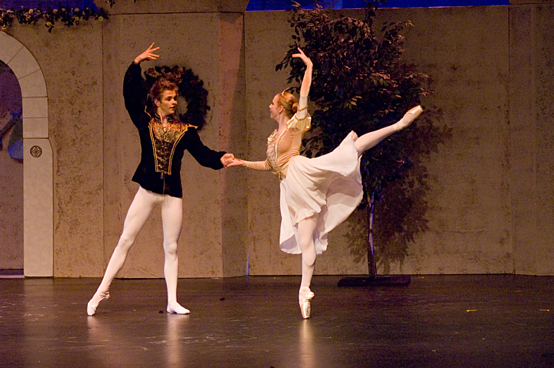 """Prince and Princess pas de deux from Act One of The Snow Queen Ballet (8th season). <a href="""" http://calballet.com/upcoming-performances/snow-queen/"""" target=""""_blank"""">Snow Queen Web Site</a>"""