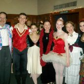 "In the lobby of the Glendale College Performing Arts Auditorium, Snow Queen Ballet composer Randall Michael Tobin with six of the principals from the 14th season. <a href="" http://calballet.com/upcoming-performances/snow-queen/"" target=""_blank"">Snow Queen Web Site</a>"
