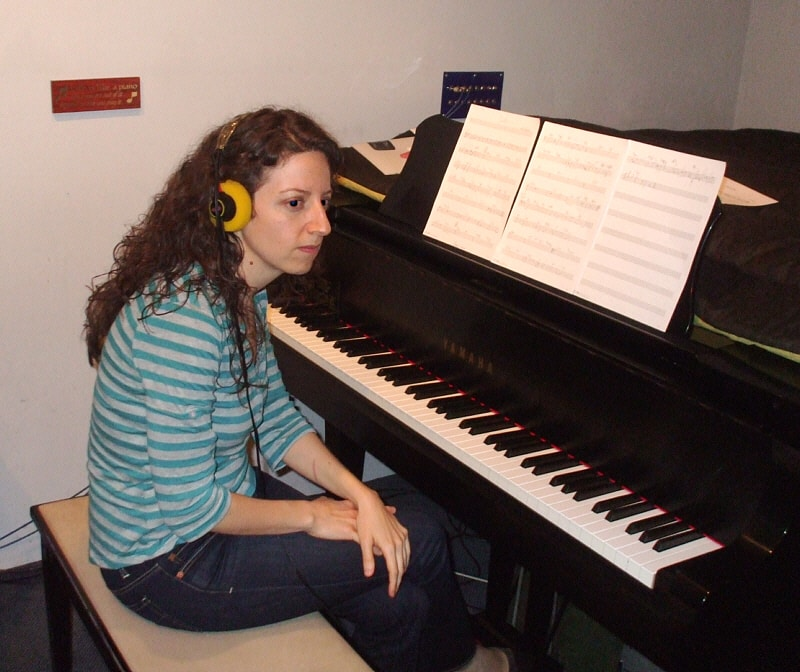 "Tali Tadmor is an amazing piano accompanist and composer who recently brought the ""Ella Fitzgeraldberg"" project to Theta Sound Studio to develop the songs. ""Ella"" is a cabaret show-turned-dance party exploring the Yiddish Swing culture in Los Angeles in the 1940s. Take a listen to the audio preview <a href=""http://sixpointsfellowship.org/fellows/2011/tali-tadmor"" target=""_blank"">here</a>."