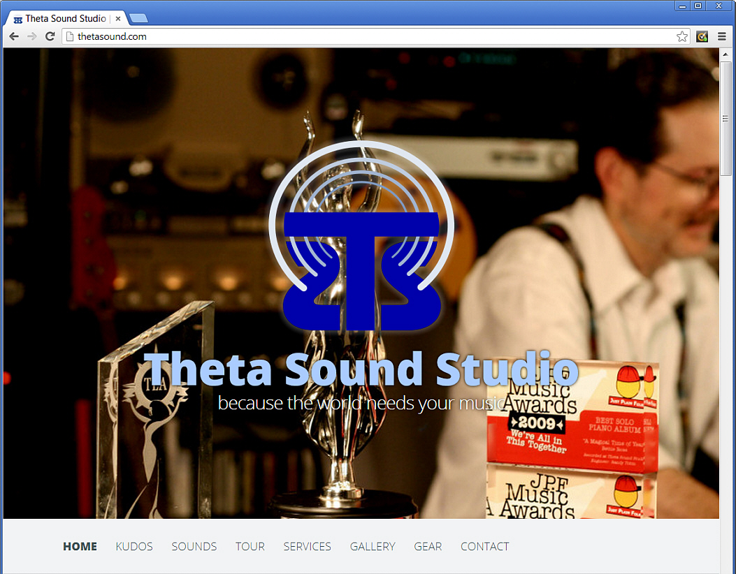 "Theta Sound Studio first established an online presence in the mid 90s. Although the site was updated over the years, it hadn't kept up with the newer technologies that emerged faster that one could keep track. And we were so busy designing new web sites for our clients that the studio web site didn't get much love. But that's history! Our new web site is now online and was officially launched at our 36th Anniversary BBQ, September 28, 2013! <a href=""http://ThetaSound.com"" target=""_blank"">ThetaSound.com</a> Enjoy…"
