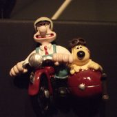 Wallace and Grommit hanging out above the Technics 2-Track in the Control Room at Theta Sound Studio.