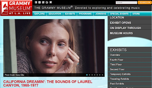Grammy Museum Web Site Laurel Canyon