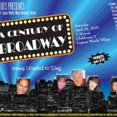 """A Century of Broadway"" by Licensed to Sing (poster design by Theta Sound Studio's art department)"
