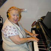 Elisa Gallay was Hungary's finest musical treasure living and performing right here in Burbank, California, until her passing in 2013 at the age of 93. A conservatory trained concert pianist, she moved on to jazz and traditional pop while writing and singing songs in both Hungarian and English. Elisa was a frequent flyer at Theta Sound Studio and her shining spirit will always be with us…