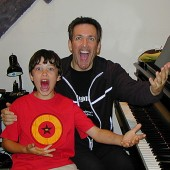 Vocal coach Eric Vetro and Graham Phillips hamming it up!