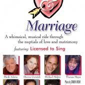 """Love and Marriage"" DVD from a live show by Licensed to Sing (feature-length video and DVD package design by Theta Sound Studio)"