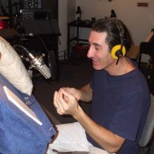 "Pro Lingua Press audiobook narration session with Spanish voice actor Jordi Caballero at the mic. <a href=""https://www.thetasound.com/?p=217"">(see feature story here)</a>"
