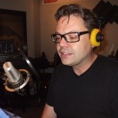 "Pro Lingua Press audiobook narration session with German voice actor Alexander Schottky at the mic. <a href=""https://www.thetasound.com/?p=217"">(see feature story here)</a>"