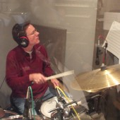 "Rod Harbour laying down the groove in iso booth 1 at Theta Sound during Susan Kohler's ""Just Harold"" recording sessions"