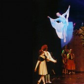"She flies! The Snow Queen Ballet 9th season featured the Snow Queen herself flying by wire and performing two stunning aerial dances. <a href="" http://calballet.com/upcoming-performances/snow-queen/"" target=""_blank"">Snow Queen Web Site</a>"